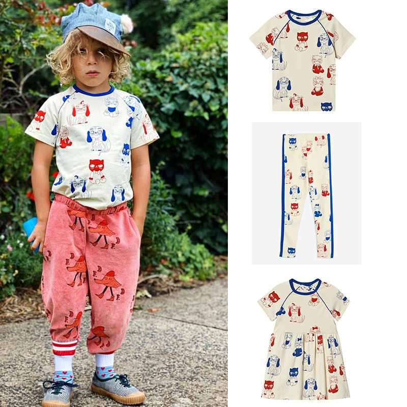MR Spring/summer 2020 Pure Cotton Cat And Dog Short Sleeve Trousers Skirt