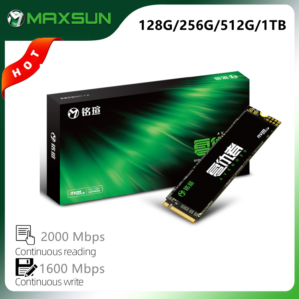 MAXSUN M.2 2280 SSD 128 ГБ 256 512 1 ТБ 3D NAND флэш-накопитель Внутренний твердотельный диски Gen3 x 4 м. 2 ноутбука, настольного компьютера, Встроенная память