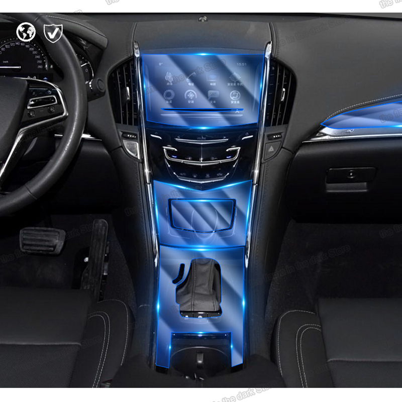 Lsrtw2017 TPU Transparent Car Interior Central Control Gear Protective Film For Cadillac Ats 2013 2014 2015 2016 2017 2018 2019