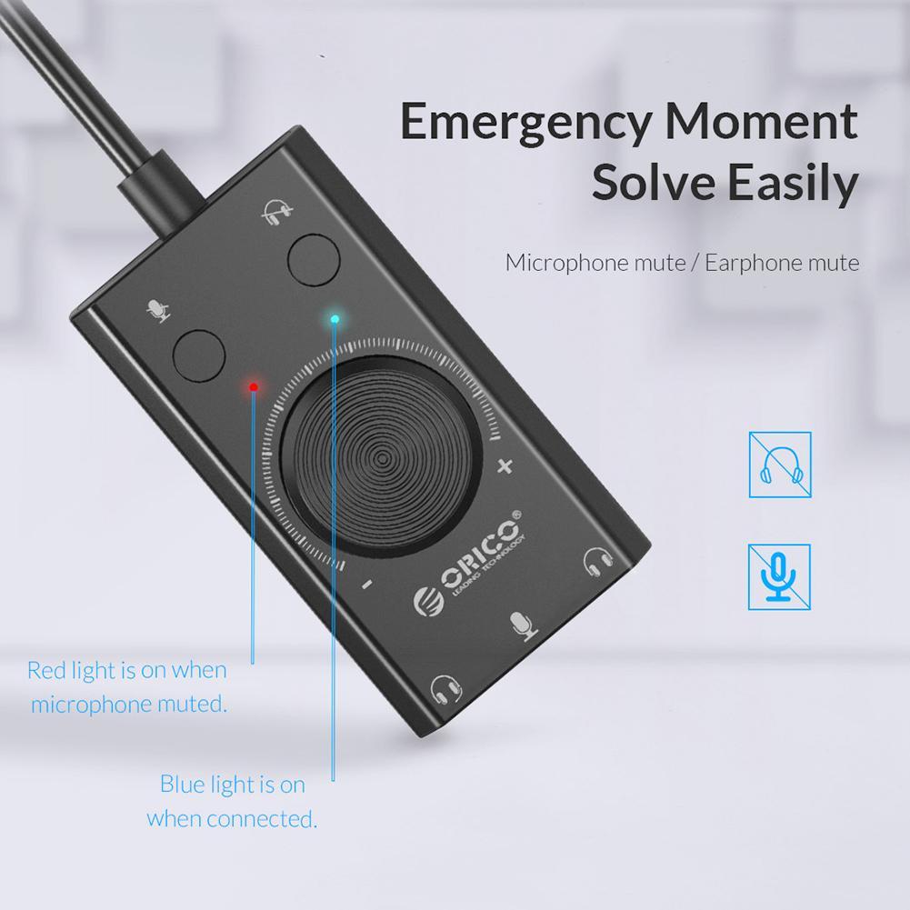 Orico SC2 USB 2.0 External Sound Card 7