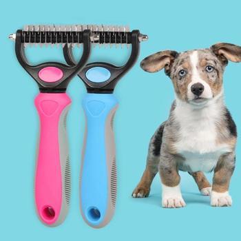 Zwierzęta domowe są grzebień do usuwania włosów dla psów ze stali nierdzewnej włosy kota grabie do pielęgnacji szczotka do sierści obroża dla kociaka pieska pielęgnacja urody akcesoria tanie i dobre opinie VKTECH Pet Combs STAINLESS STEEL