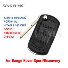 Batterie remplaçable pour Land Rover LR3 Range Rover Sport Discovery 3 433 ou 315 ID46, télécommande à rabat, porte-clés