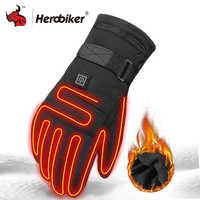 Gants de Moto imperméables chauffés Guantes Moto chauffage USB chauffe-mains gants chauffants thermiques électriques gants à piles
