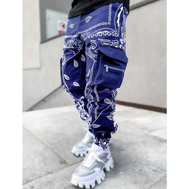 Hip hop printing pants men trousers fashion streetwear sweatpants for men joggers High street Loose cargo pants men 6