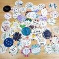 96 шт., 3 см/1,2 дюйма, круглые свадебные наклейки с логотипом на заказ, водонепроницаемые, персонализированные, именные, вечерние, подарочные к...