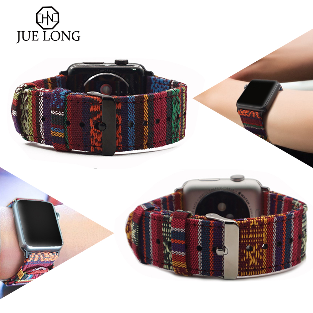 New Fabric Strap For Apple Watch Strap 38mm 40mm iWatch 4 Band 42mm 44mm Sport Band Apple Watch 5 4 3 2 Accessories