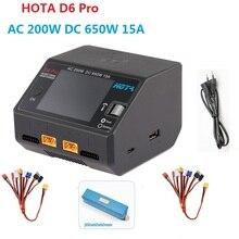 Хота D6 Pro AC 200W DC 650W 15A Lipo Зарядное устройство с Беспроводной зарядки для NiZn/гидридных и никель-кадмиевых типов аккумуляторов/никель-металл-ги...