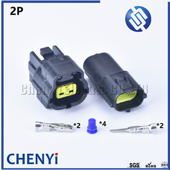 1 sets 2 pin way male female waterproof wire connector auto electrical plug conector 174354-2 174352-2 image