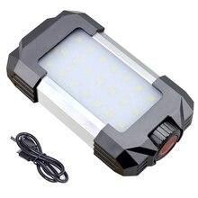 Многофункциональное портативное аварийное освещение кемпинга, Дополнительный внешний аккумулятор, режим SOS, вспышка, светильник для наружного туризма, ночной рыбалки, 15 Вт, Диммируемый светодиодный светильник, лампа