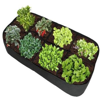 Prostokąt ogród powiększająca torba ogród Jardin Jardin Ogrod podniesione podłoże dla roślin ogrodowa sadzarka do kwiatów podwyższony pojemnik na warzywa tanie i dobre opinie Hedahlia CN (pochodzenie) Felt Planting bag