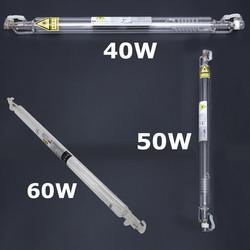 Быстрая Доставка из ЕС 40 Вт/50 Вт/60 Вт, профессиональная герметичная лазерная трубка для водяного охлаждения CO2, лазерный гравер, резак
