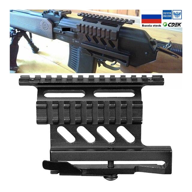 Suporte de escopo picatinny 20mm para montagem, suporte de trilho picatinny weaver ak série side suporte de rifle