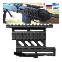 Tactical picatinny weaver ak serie montagem lateral ferroviário rápido qd 20mm picatinny destacam duplo lado ak escopo vista montar suporte rifle
