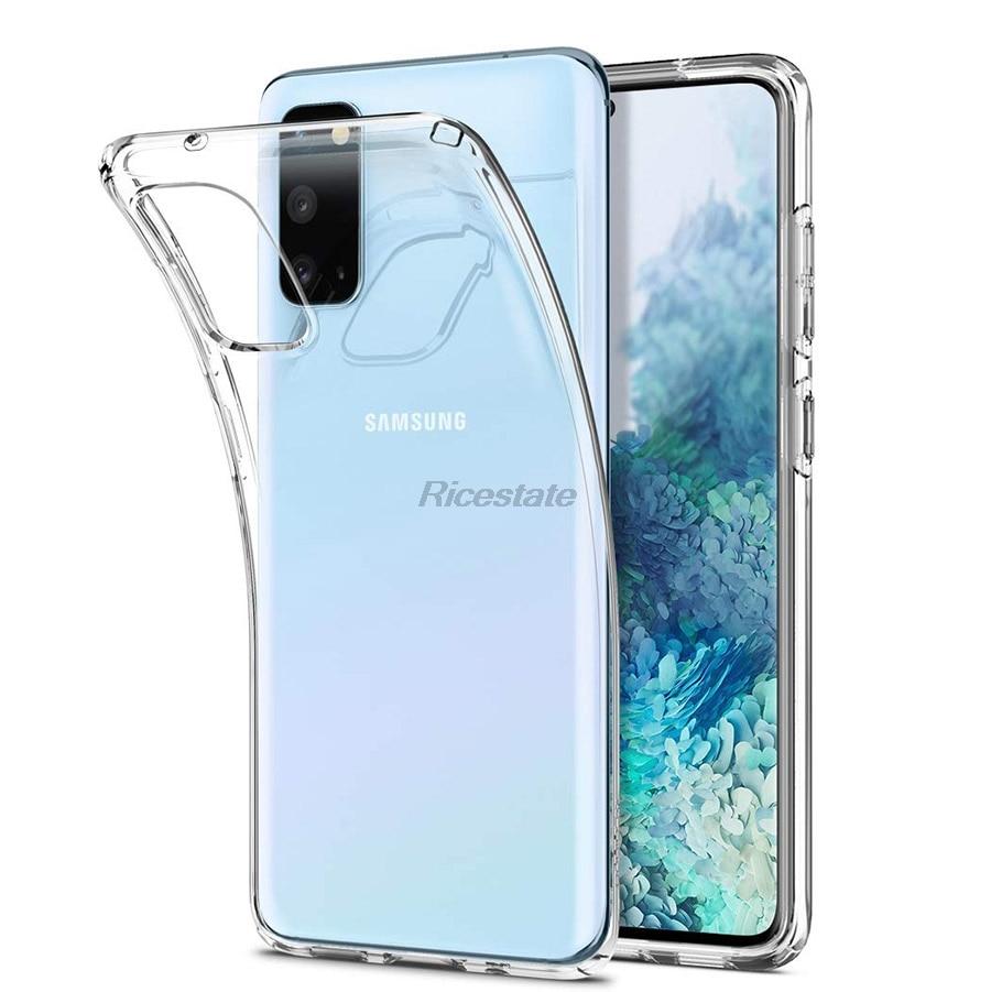 Silicone Soft TPU Case For Samsung Galaxy S20 Plus S20 Ultra A01 A21 A31 A51 A71 A81 A91 A10 A30 A50 A70 Protector Cover Case