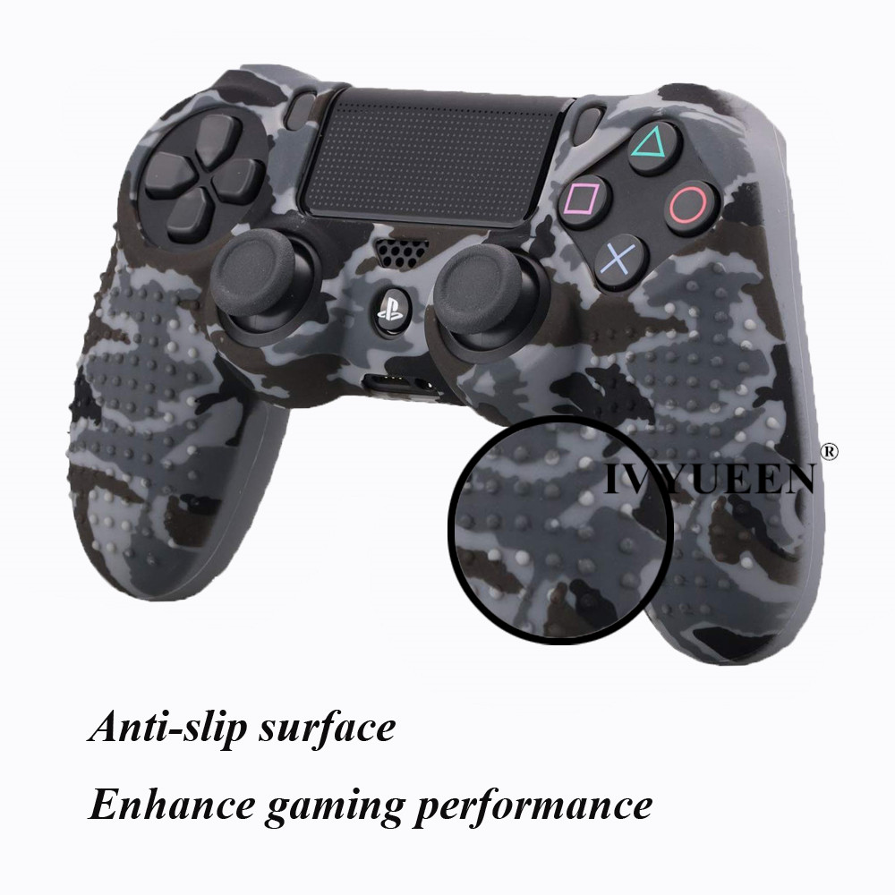 IVYUEEN 25 Colors Anti Slip Silicone Protective Skin Case For Sony PlayStation 4 PS4 DS4 Pro Slim Controller Thumb Grip Caps 2
