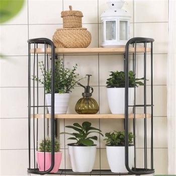 Multipurpose Three-Layer Storage Holder Wall Hanging Flower Stand Balcony Plant Shelf