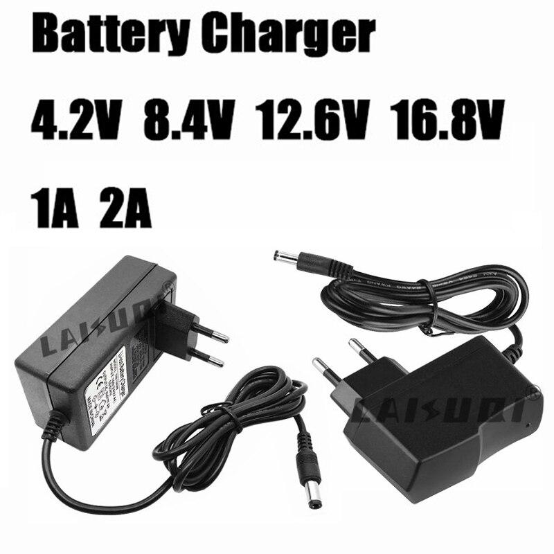 4,2 V 8,4 V 12,6 V 16,8 V 1A 2A AC 100-240V переменного тока в постоянный Мощность адаптер питания Зарядное устройство для 18650 Литий Батарея 4,2 V 8,4 V 12,6 V 16,8 V