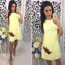 Love And Lemonade Lace Neon Dress Long Summer Wrap A-Line Casual  Sexy Fashion Embroidery Autumn Dresses Girls Can Do Anything