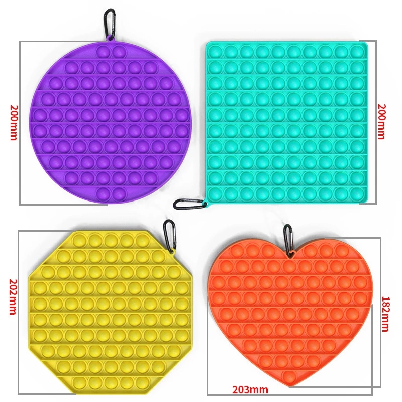 Sensory Toy Fidget-Toys Bubble Squeeze Square Silicone Stress Reliever Dropship Big-Size img2