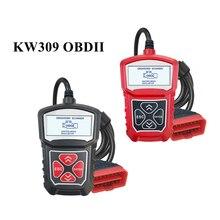 Ferramenta de diagnóstico do varredor do carro obd 2 kw309 obdii leitor de código automático eobd máquina de digitalização 7 línguas do carro obdii scanner