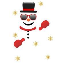 Рождественские наклейки на стену в гараже забавный стикер снеговика