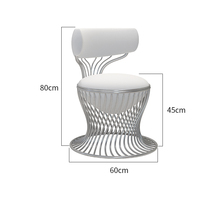 Customizable Chair Commercial Furniture Creativity Nordic Hotel Coffee Chairs Pink Soft Backrest Dining Chairs Sillas Modernas
