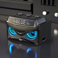 Soaiy S68 Wireless Speaker Mic Portable Bass LED Alarm Clock FM Radio Support TF Car Picnic Dance Bluetooth Outdoor Subwoofer