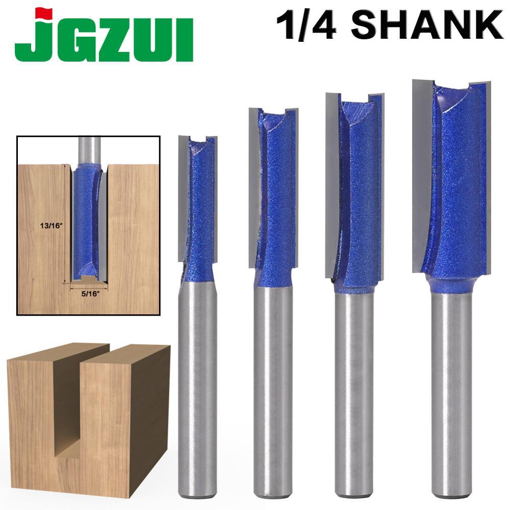 1PCS 1/4″ Shank Straight Woodworking Router Bit Set Carpenter Milling Cutter 1/4″,5/16″,3/8″,1/2″Cutting Diameter