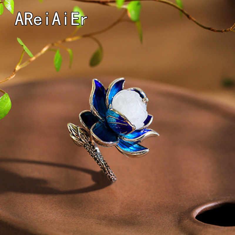 Cloisonne Lotus หยกธรรมชาติ Hetian เปิดแหวนแห่งชาติลม Super Fairy Hot new star กับวรรคเดียวกัน