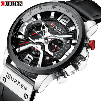 CURREN Casual Sport Watches for Men Top Brand Luxury Military Leather Wrist Watch Man Clock Chronograph Watch Relogio Masculino