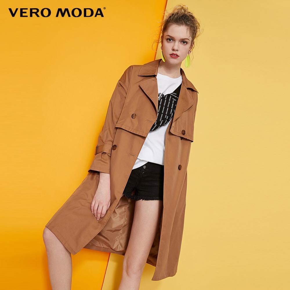 Vero Moda Women's Lapel Double-Breasted Trench Coat | 319121522