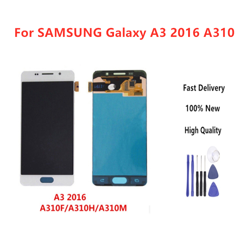 Quality Assurance For <font><b>SAMSUNG</b></font> Galaxy A3 2016 A310 <font><b>A310F</b></font> <font><b>Display</b></font> Touch <font><b>Screen</b></font> Replacement <font><b>Display</b></font> With High Quality+Tools image