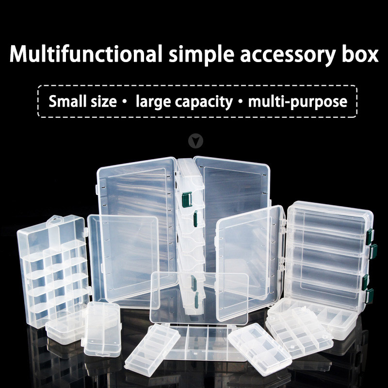 Fishing Tackle Box For Wobblers Baubles Portable Large Boxes Organizer For Lures Baits Hooks Length 275mm Width 170mm