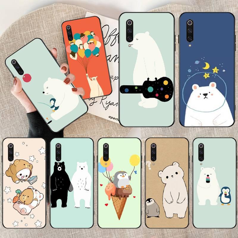 Nbdruicai Penguin Polar Bear Diy Printing Phone Case Cover Shell