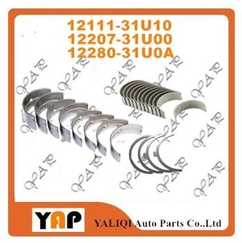 STD główne łożysko łożysko korbowodu dla FIT NISSAN VQ30DE VQ20DE VQ25DE VQ23DE 12111-31U10 12207-31U00 12280-31U1A tanie i dobre opinie EAPENERGY Mechanizm korbowy 16cm STD 12111-31U10 12207-31U00 12280-31U1A 12281-31U1A 14cm 6 cylinder 1999-2015 18cm Aluminum alloy