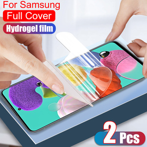 Full Cover Protective Hydrogel Film For Samsung Galaxy A51 A71 A50 A70 A21S S10 S20 Plus Note 20 Ultra Screen Protector No Glass(China)