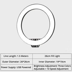 Image 5 - การถ่ายภาพโทรศัพท์สตูดิโอLED Selfie Ring Light Annularโคมไฟกับผู้ถือโทรศัพท์มือถือสำหรับMakeup Video Liveกล้องเติมlight