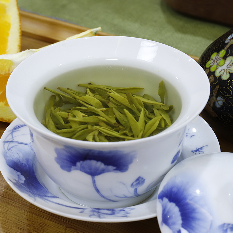 China Famous Good Quality Dragon Well 2020 New Spring Long-jing Green Tea for Weight Lose Health Care Tender Aroma 1