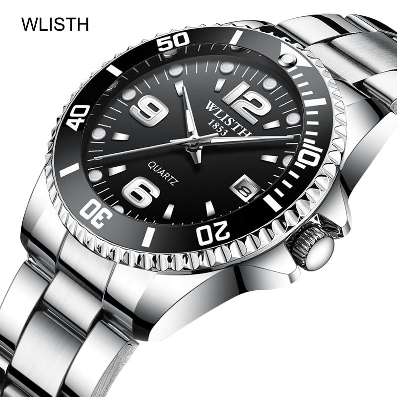 WLISTH Men's Watches TOP Brand Luxury 30m Waterproof Clock Male Sports Watch Men Quartz Wrist Watch Relogio Masculino Calendar