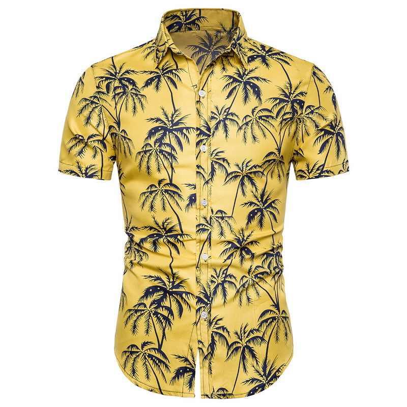 JODIMITTY 男性ファッションプリント Tシャツカジュアル半袖ハワイアンシャツビーチホリデースリムフィットパーティートップス