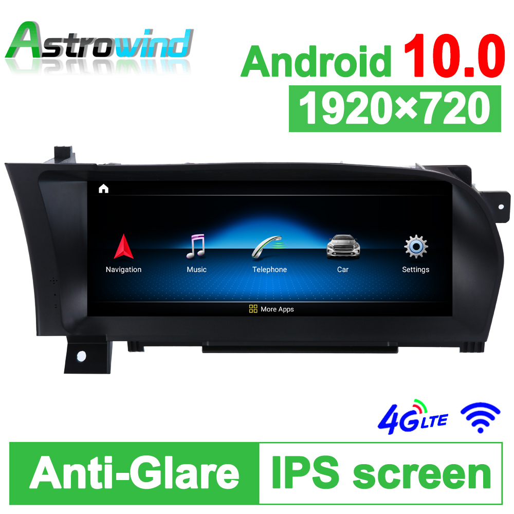 D-1228,10.25 inch 64G ROM Android 10.0 System Car GPS Navigation Media Stereo Radio ForMercedes-Benz S W221 2006-2009