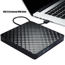 цена на Corrugated USB 3.0 External High Speed DVD Burner Optical Drive For PC Laptop DVD player DVD USB External Drive DVD привод