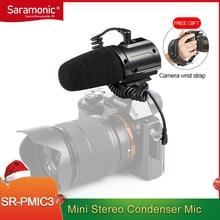 Saramonic SR-PMIC3 микрофон для объемной записи со встроенным амортизирующим креплением, фильтром с низким вырезом и работой без батареи, легкий