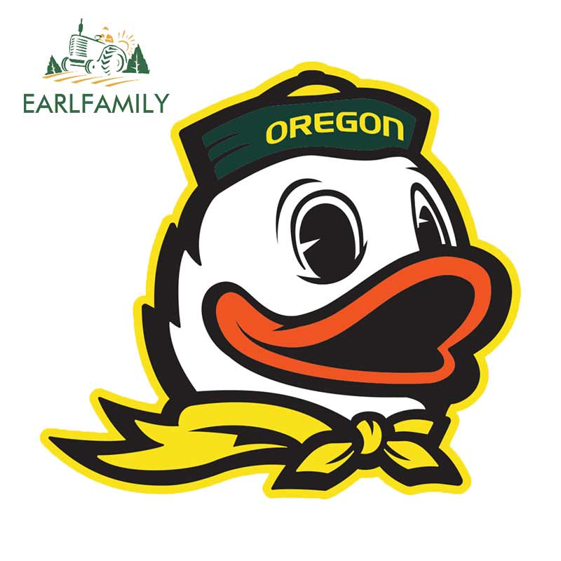 EARLFAMILY 13cm X 11.8cm For OREGON Car Stickers Bumper Window Occlusion Scratch Suitable For SUV 3D Waterproof Decal Decoration