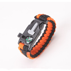 Image 5 - Multi function Military Emergency Survival Paracord 4mm Bracelet Outdoor Scraper Whistle Buckle Paracord Tools 550 Paracord