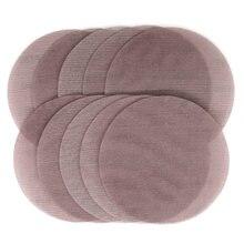 Абразивные диски из сетчатой ткани 10 шт абразивные без пыли