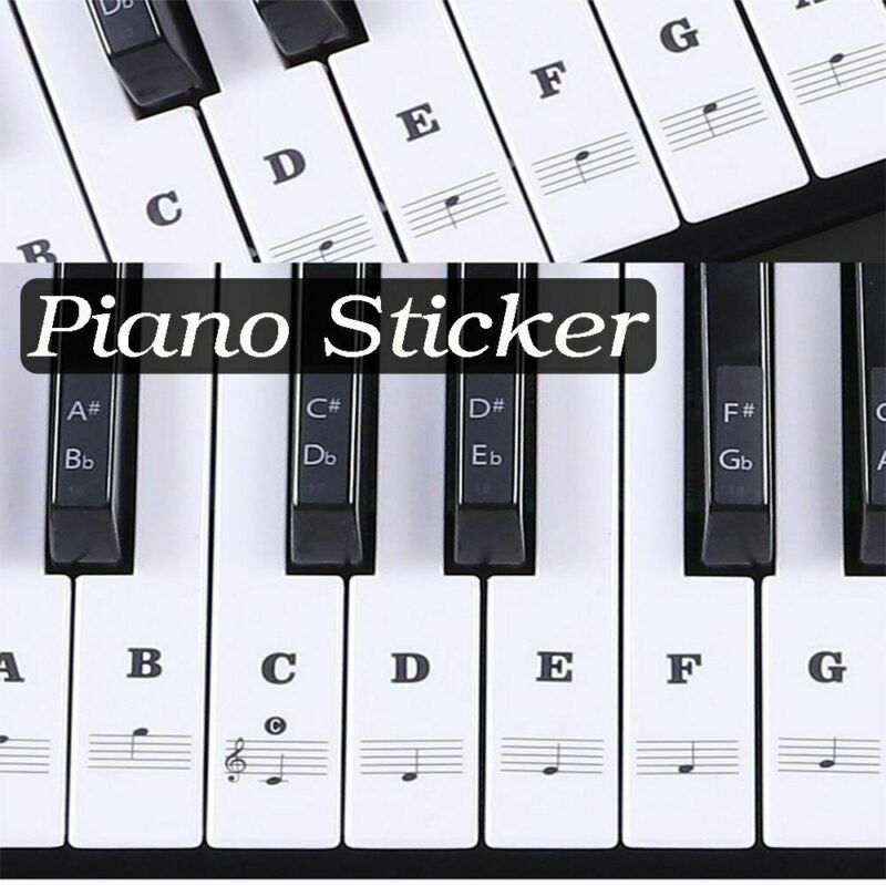 New Creative Durable Universal Transparent Piano 54/61/88 Key Note Keyboard Sticker Decals