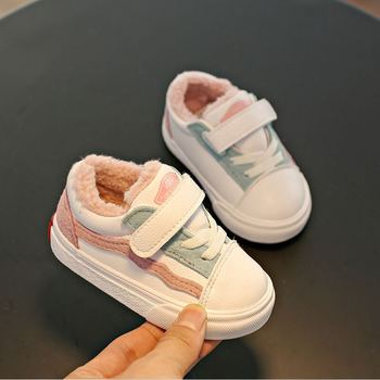 babaya Baby Winter Shoes Girls Boots Toddler Winter Shoes Warm Plus Velvet 2020 New 1-6 Years Old Boys Children Cotton Shoes 2018 winter plus cotton girls princess shoes genuine leather soft bottom for children 0 1 years old female baby toddler shoes