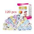 120 шт./кор. мультяшный браслет-помощь милая детская дышащая мини-бандаж для лекарств кровоостанавливающийся пластырь