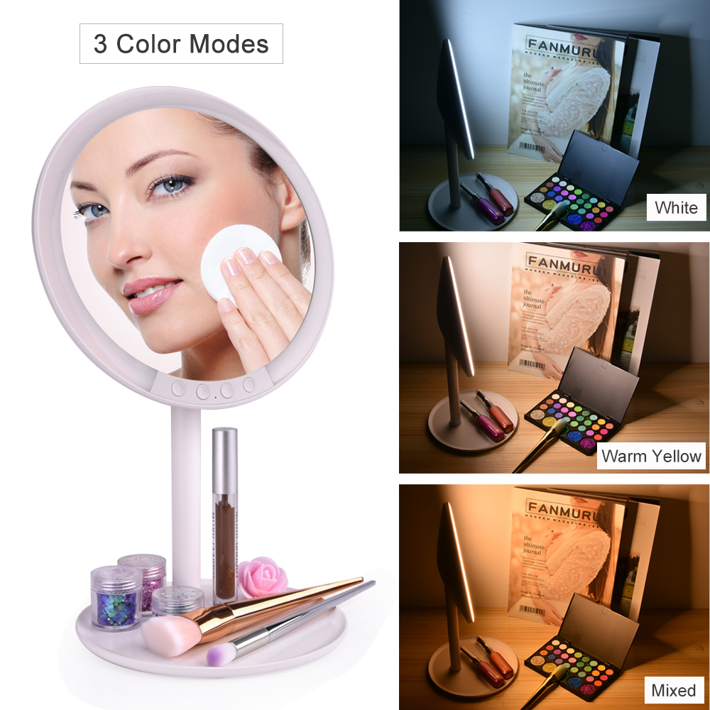 Modos de Ampliação Espelho de Maquiagem com